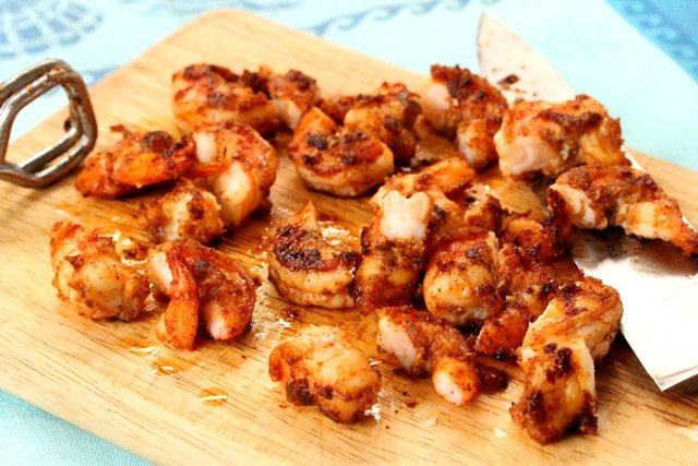 Cut Cooked Shrimp