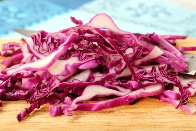 Shredded Cabbage on board