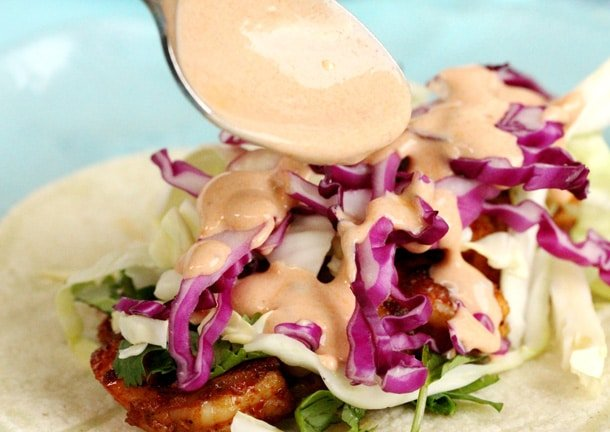 Drizzle Adobo Sauce on Tacos