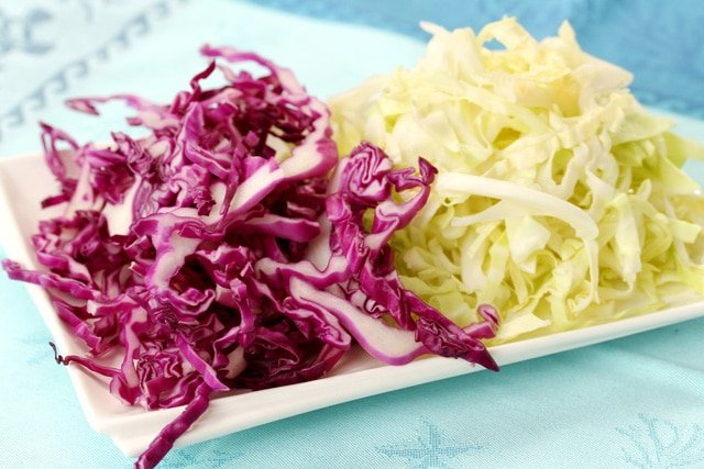 Shredded Cabbage on Plate