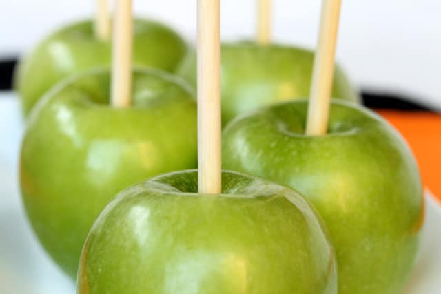 Granny Smith Apples with Sticks