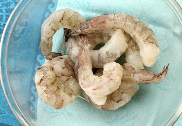 Raw Shrimp in Bowl