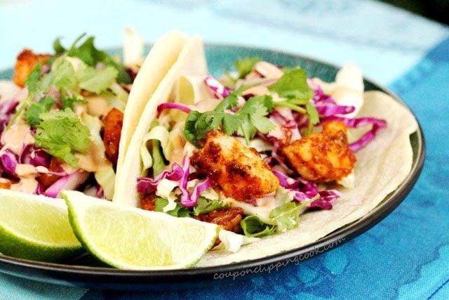 Spicy Shrimp Adobo Tacos