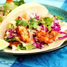 Spicy Shrimp Adobo Tacos