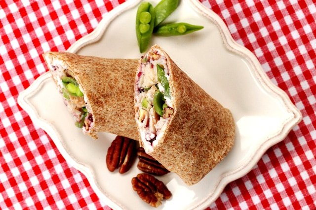 Turkey Pecan Cranberry Wrap on plate