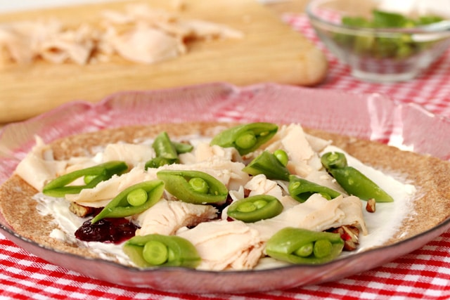 Sugar Snap Peas on Turkey