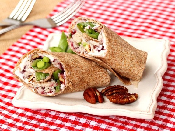 Turkey and Cranberry Wrap on plate