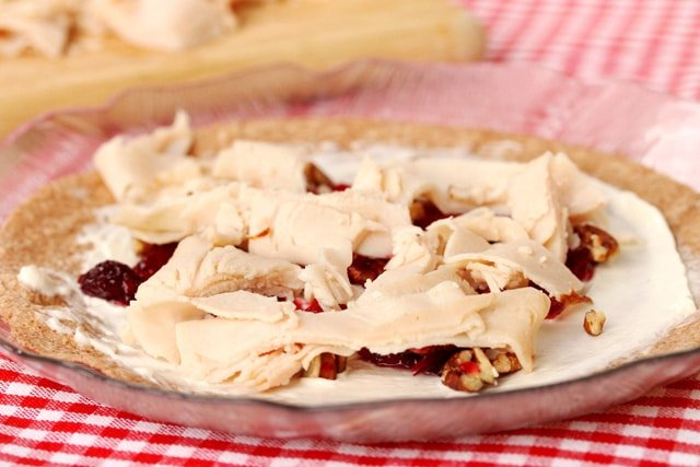 Turkey on Cream Cheese on plate
