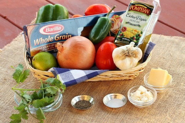 Tomato Garlic Pasta Ingredients