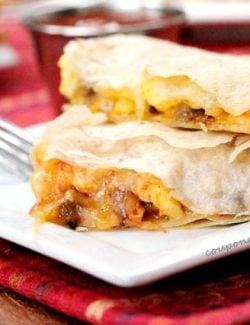 Breakfast Quesadilla on Plate