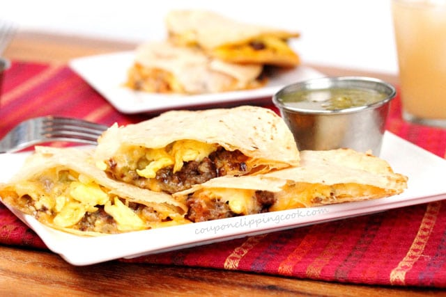Breakfast Quesadillas on plate