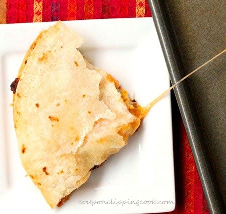 Cheesy Quesadilla on Plate