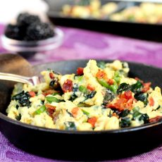 Bacon Kale Egg Scramble