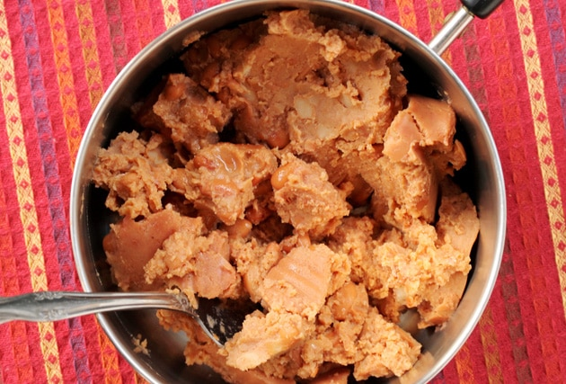 1-add-refried-beans-to-pan