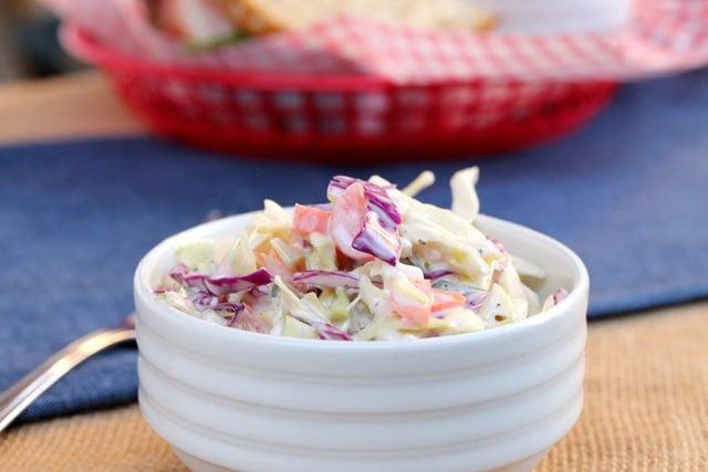 Simple Coleslaw in bowl