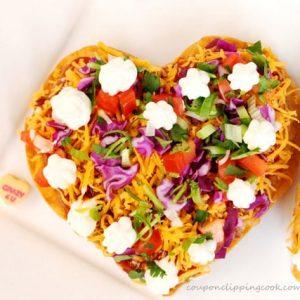 Valentine Heart Tostadas