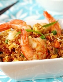 Fried Rice and Shrimp