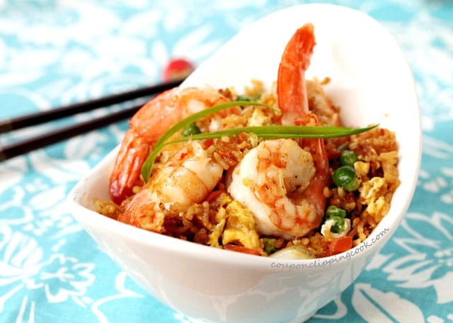 Shrimp and Fried Rice in bowl