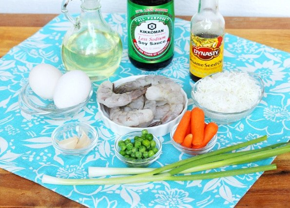Shrimp and Fried Rice Ingredients