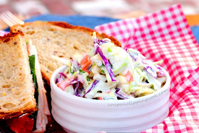 Simple Coleslaw in Bowl