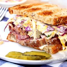 Corned Beef and Slaw Sandwich