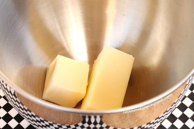 Butter in Metal Bowl