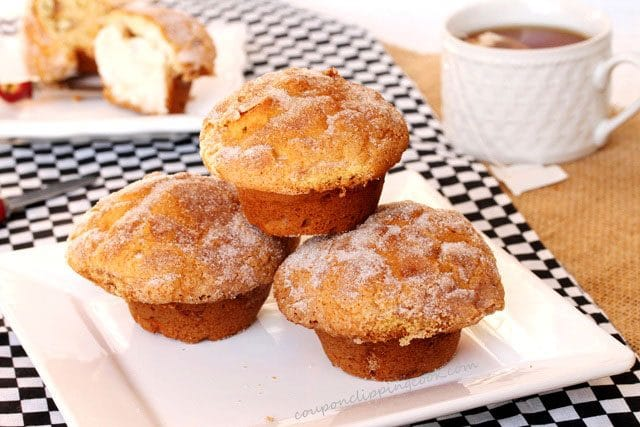 Sour Cream Muffins on Plate
