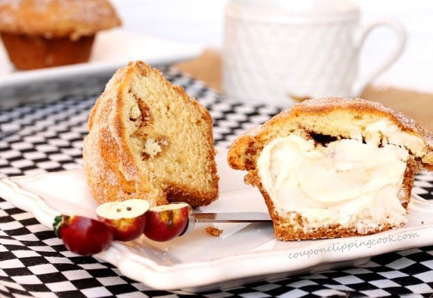 Sour Cream Coffee Cake Muffin on plate