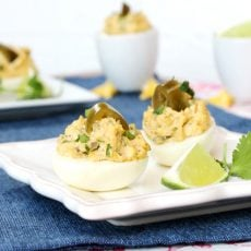 Spicy Jalapeno Deviled Eggs