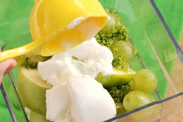 Add yogurt to blender jar