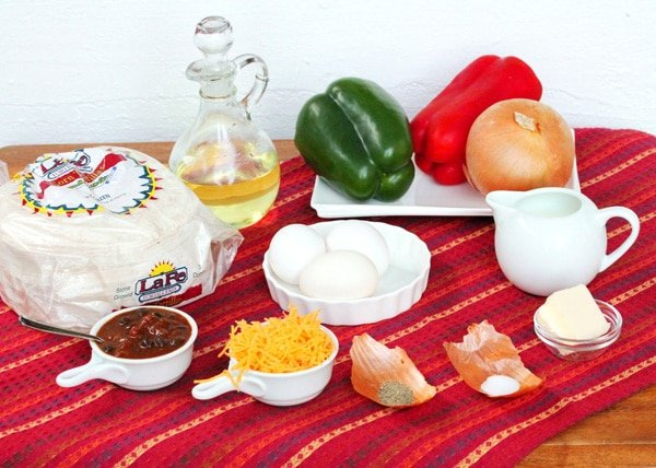 Chili Chilaquiles ingredients