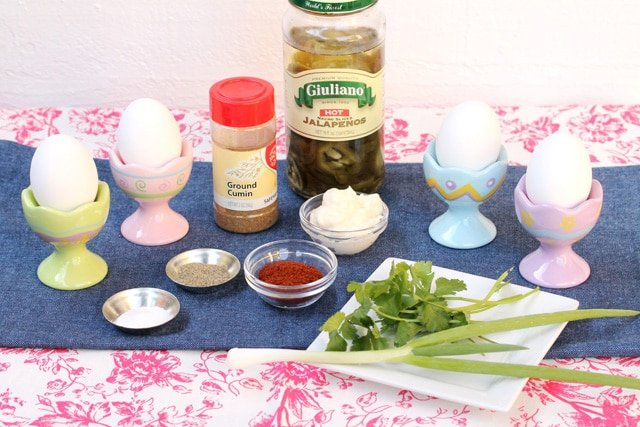 Jalapeno deviled eggs ingredients