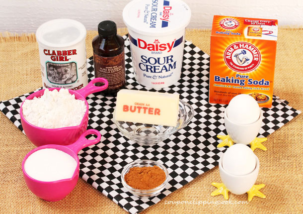 Ingredients for Sour Cream Muffins