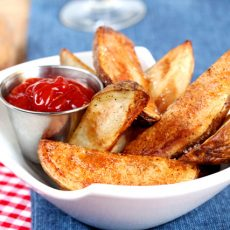 Baked Steak Fries & Smokey Ketchup