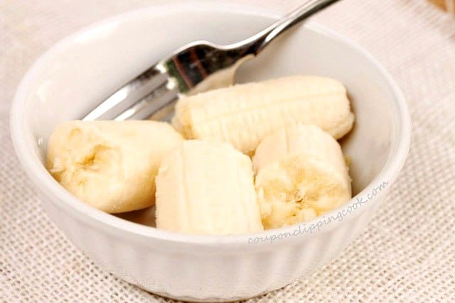 Cut Banana in Bowl