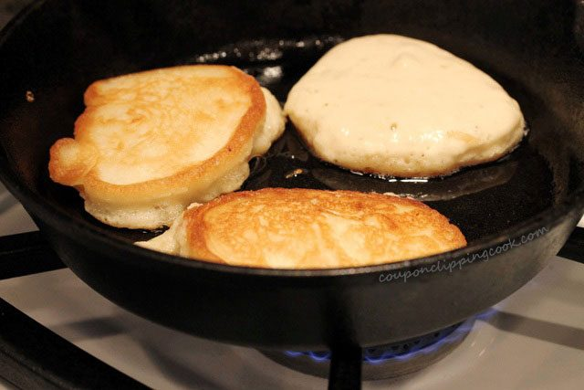 Pancakes in Iron Skillet