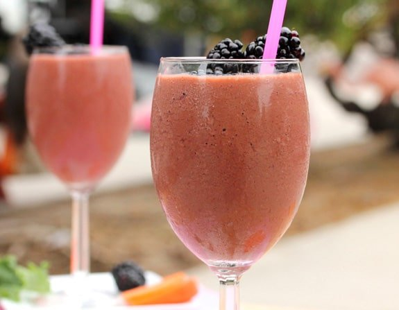 Berry and Vegetable Smoothie in glass