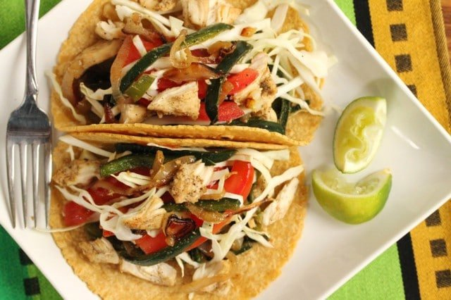 Poblano Chicken Soft Tacos