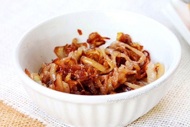 Caramelized onions in small bowl