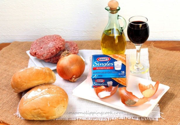 Cheeseburger with Onions Ingredients