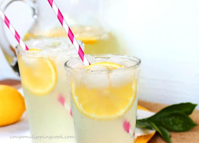 Fresh Homemade Lemonade in glasses