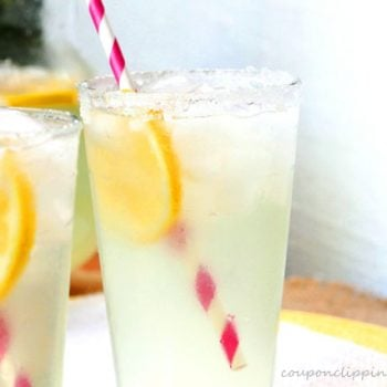 Glass of Lemonade with Ice