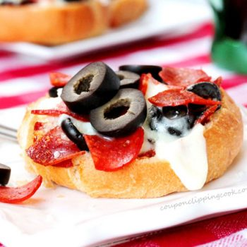 Mini Pizza on Plate