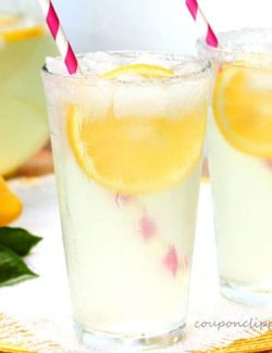 Glass of Lemonade with Ice