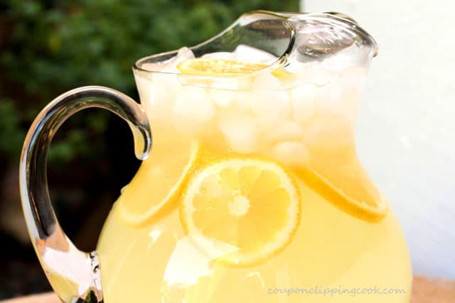Fresh Homemade Lemonade in pitcher