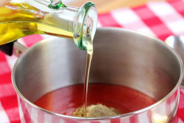 Add olive oil in pot