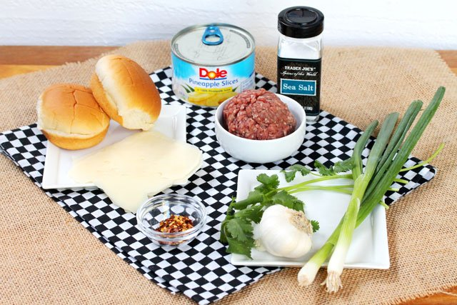 Grilled Cilantro Burger Sliders Ingredients