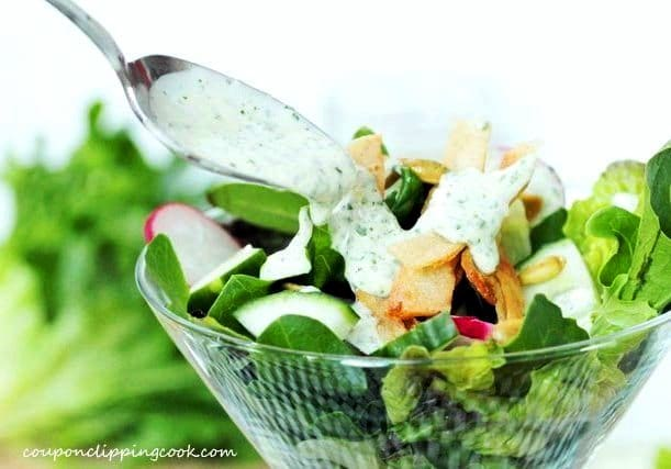 Cilantro Dressing on Salad