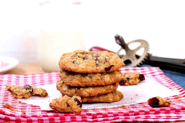 Oatmeal Cranberry Cookies on plate