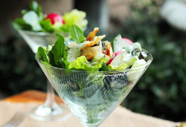 Creamy Cilantro Dressing on salad